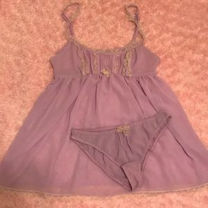 NWOT Victoria's Secret Lavender and Lace Babydoll